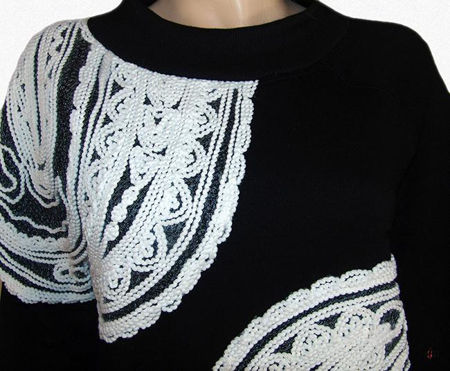 fadenstickerei sweatshirt