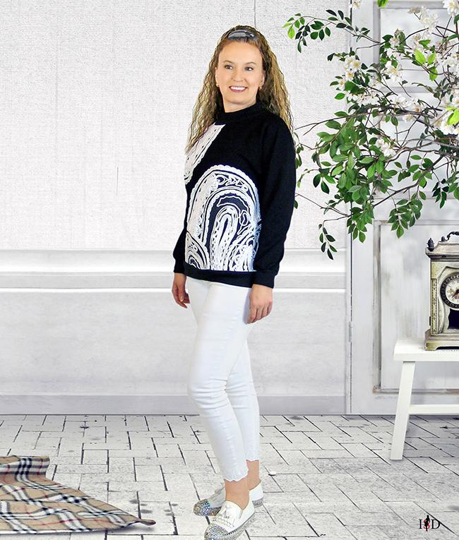 designer sweatshirt francterry fadenstickerei