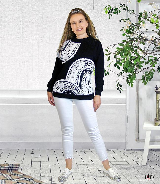 Sweatshirt French-Terry mit Fadenstickerei