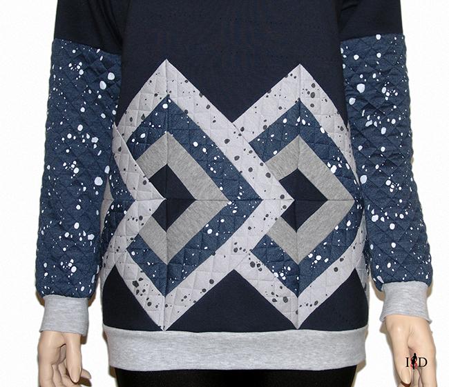 designer Patchwork Sweatshirt 3D Design