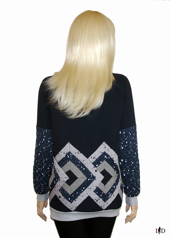 damen Patchwork Sweatshirt 3D Design