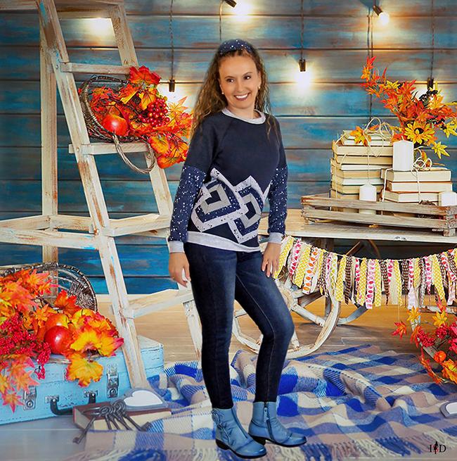 patchwork sweatshirt 3d design